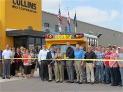 Collins' first NEXBUS rolls off assembly line