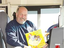 Don Sanders of Maine started the Bus Book Bags program and was recognized by the nonprofit Maine Children's Alliance. Photo by Maine Education Association