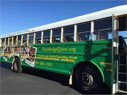 Durham School Services donated a newly retrofitted school bus to Knowledge Quest, an educational non-profit organization in Memphis, Tennessee.