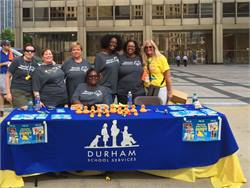 Durham School Services' sales team raised $11,194 through duck sales and donated an additional $5,000, which will help support year-round athletic training and competition in 19 sports for almost 21,500 Special Olympics athletes and over 13,000 young athletes in Illinois.