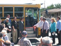 Converted electric school bus debuts at California district