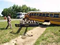 Report looks at lap belts in bus crash