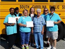 These three photos show school bus drivers and aides at Greenville County Schools who didn't miss a day in the entire 2014-15 school year.