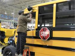 Union workers at Thomas Built Buses' High Point facility ratified a contract that includes a ratification bonus, four pay increases and more vacation.