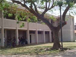 Bus route cuts across Hawaii will affect nearly 2,400 students. Pictured is James Campbell High School in ʻEwa Beach.