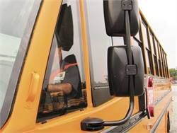In Delaware, school bus driver seat belts are spec'd in fluorescent orange or green to make it easier for supervisors to see that their drivers are buckled.