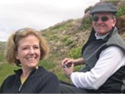 Gerri Hall enjoys traveling with her husband, David Nickels. Here, they are picnicking high on the cliffs of Moher in Ireland.