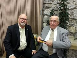 Anton Neyens (right), celebrated his 90th birthday on Sunday. Neyens served as transportation manager atBellingham (Wash.) Public Schools for 17 years before moving into school bus sales. He retired in 1998. He's pictured at his birthday celebration with longtime friend Michael Shields of Oregon's Salem-Keizer Public Schools.