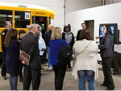 PHOTOS: New York association demonstrates school bus safety