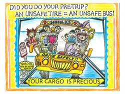 "Lucy Wittenberg won first prize in the pre/post-trip category for her ""Did you do your pre-trip?"" poster."