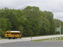 The Navistar Proving Grounds includes a 3-mile paved and banked oval for testing the company's buses and trucks.