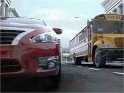 A Nissan commercial that shows a father and son racing a yellow bus to school has sparked a backlash from NAPT and others involved in pupil transportation.