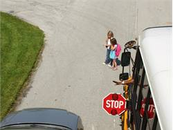 Thousands of stop-arm violations like the one depicted here occur every day thoughout the U.S.Photo by Brevard (Fla.) Public Schools