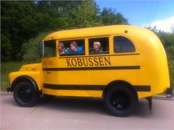 Kobussen acquired this vintage school bus earlier this year to run in parades. So far, it has been in the Appleton Flag Day parade and the Great Wisconsin Cheese Festival parade.