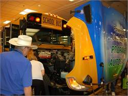 Trade show attendees look over the Next Generation Propane-Powered Vision, which was unveiled in Reno on Tuesday.