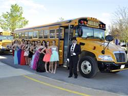 """Richfield Springs (N.Y.) Central School ensures a safe and equitable prom experience for all students by providing a """"yellow limo"""" for transportation."""