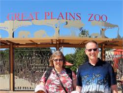 Max Christensen and his wife, Lisa, adopted two children from China: Olivia and Isaiah. They are pictured at the Great Plains Zoo in Sioux Falls, South Dakota.