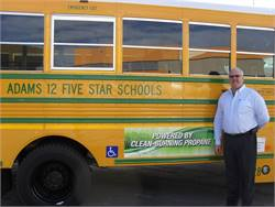 David Anderson, the director of transportation and fleet service at Adams 12 Five Star Schools, has long been a proponent of adopting alternative fuels and retrofitting older diesel buses to reduce emissions.