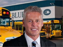 """President and CEO Phil Horlock says that Blue Bird's incoming orders for propane buses are """"double what they were a year ago."""""""