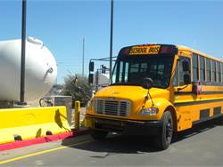 Yuma (Ariz.) Educational Transportation Consortium, which operates 23 propane autogas buses, cut infrastructure costs by buying fuel at a bulk rate.