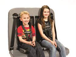 The C.E. White Co. offers a fully integrated Type 2 seat belt system in its seats with an adjustable D-ring, emergency locking retractors and locking tongue.