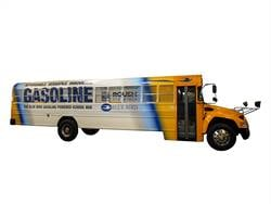 Blue Bird's new gasoline-powered Vision Type C school bus will be available in 2016. The bus will utilize a Ford 6.8L V10 gasoline engine.