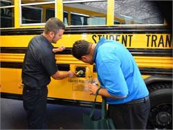 Under a new contract with St. Paul Public Schools, Student Transportation of America will provide new propane-powered vehicles. Pictured is one of the company's propane buses in Nebraska.