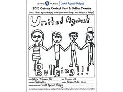 "Shown here is the winning entry in the ""United Against Bullying"" contest. It was submitted by Allison McKenna Fox from Meridian Middle School in Lynden, Washington."