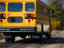 New school buses in New Jersey would need sensors to alert the driver of objects in front or in back of the bus, under a bill advanced by an Assembly committee. Photo by Kolin Toney