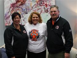 U.S. Sen. Heidi Heitkamp (N.D.), shown center, brought Susan and Richard Lunski as her guests to the State of the Union address. The Lunskis helped rescue students at the scene of the Larimore bus-train crash as they waited for first responders to arrive.