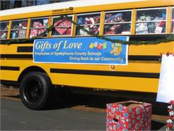 Virginia district fills bus with gifts for students