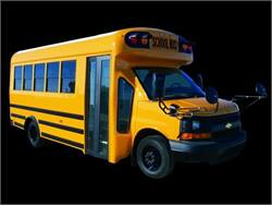 For its new Generation II Type As, Starcraft moved to one-piece hoop construction. The line includes the Quest DRW yellow school bus (pictured) and the Prodigy DRW white activity bus.