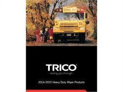 The 2014/2015 Heavy Duty Application Guide provides details on all TRICO wiper blade products applicable to school buses and several other types of vehicles.