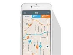 Zonar's MyBusVue app communicates up-to-the-minute school bus locations via interactive maps.