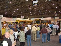 The trade show during the NAPT Summit featured products and buses from nearly 130 industry suppliers.