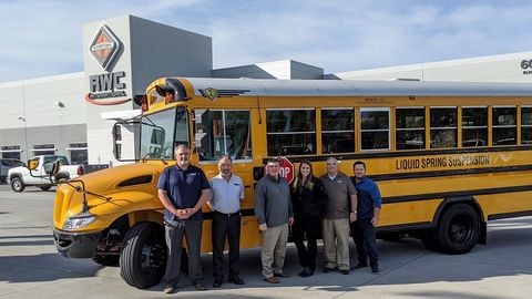 RWC Group, a bus and commercial truck dealership in Phoenix (the sales team is shown here), is...