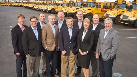 Shown here is the Krapf Group's executive team, including Blake Krapf, president and CEO, fifth...
