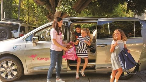Children's ridesharing company Kango offers a shuttle service option that schools can use to...