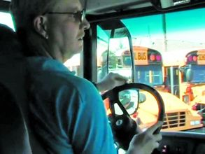 Salem-Keizer's Patrick McLaughlin demonstrates maneuvers required in school bus driver competitions. To watch the video, go to www.schoolbusfleet.com/videos.