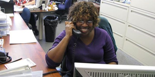 Sharon Breland (right) and Sharon Rhyne are dispatchers for Orange (Calif.) Unified School...
