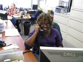 Sharon Breland (right) and Sharon Rhyne are dispatchers for Orange (Calif.) Unified School District and specialize in special-needs routes. They say stamina, patience and flexibility are important skills.