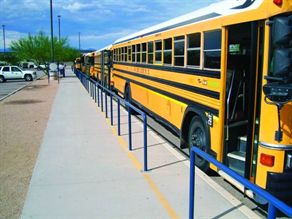 Vail (Ariz.) School District's transportation department has had railing installed at the district's