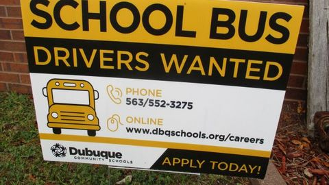 Dubuque (Iowa) Community Schools is using yard signs — normally the domain of real estate agents...