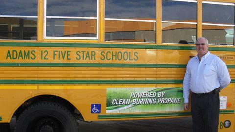 David Anderson, the director of transportation and fleet service at Adams 12 Five Star Schools,...