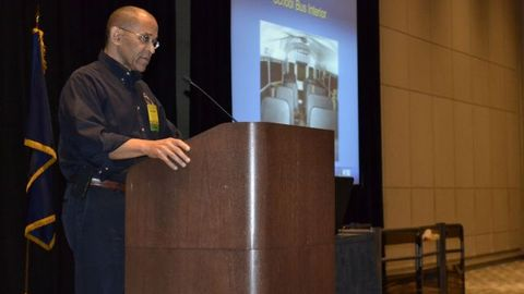 NTSB Vice Chairman Christopher Hartdiscussed potential benefits of seat belts in school buses,...