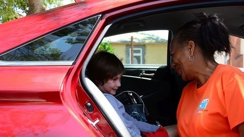Some school transportation departments have found that children's rideshare services, such as...