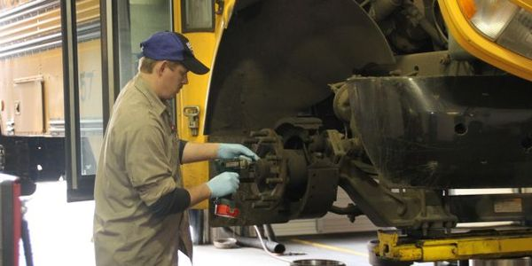 Technicians at Salem-Keizer Public Schools in Salem, Ore., undergo mentored training before...