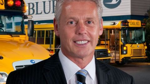 President and CEO Phil Horlock says that Blue Bird's incoming orders for propane buses are...