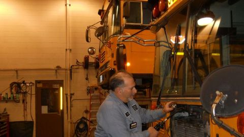 James Flauto, the vehicle maintenance foreman for Brecksville-Broadview Heights City School...