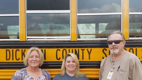 Dickson County Schools is working to improve student behavior by placing monitors on some buses...
